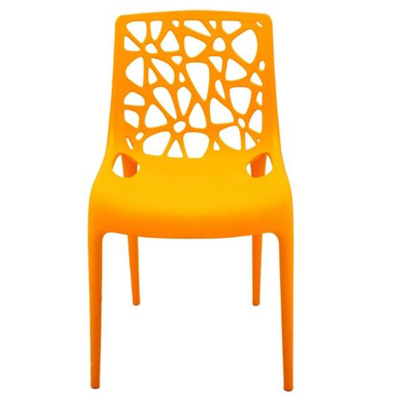 Wholesale Resin Office Meeting Chairs with Geometric Hollow Back SL-R2077YRLC