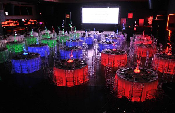Resin Chiavari Chair and table for indoor events