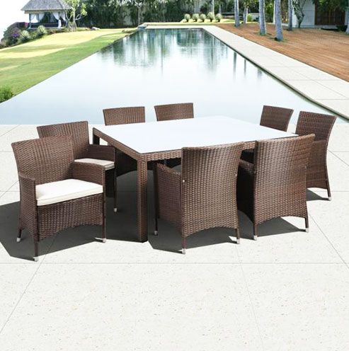 Rattan Dining Table and Chair