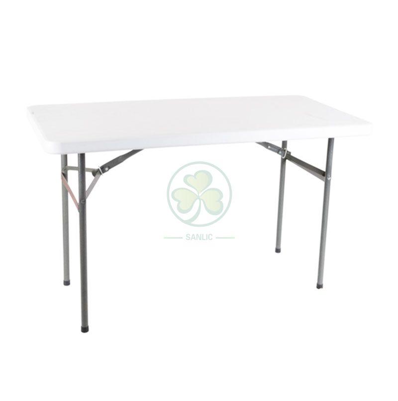 4FT Plastic Rectangular Folding Table