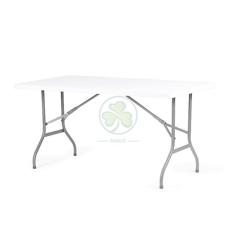 5FT Plastic Rectangular Folding Table