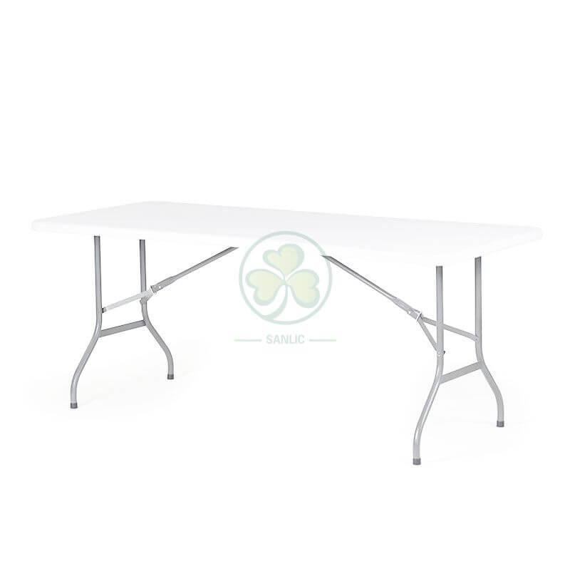 6FT Plastic Rectangular Folding Table