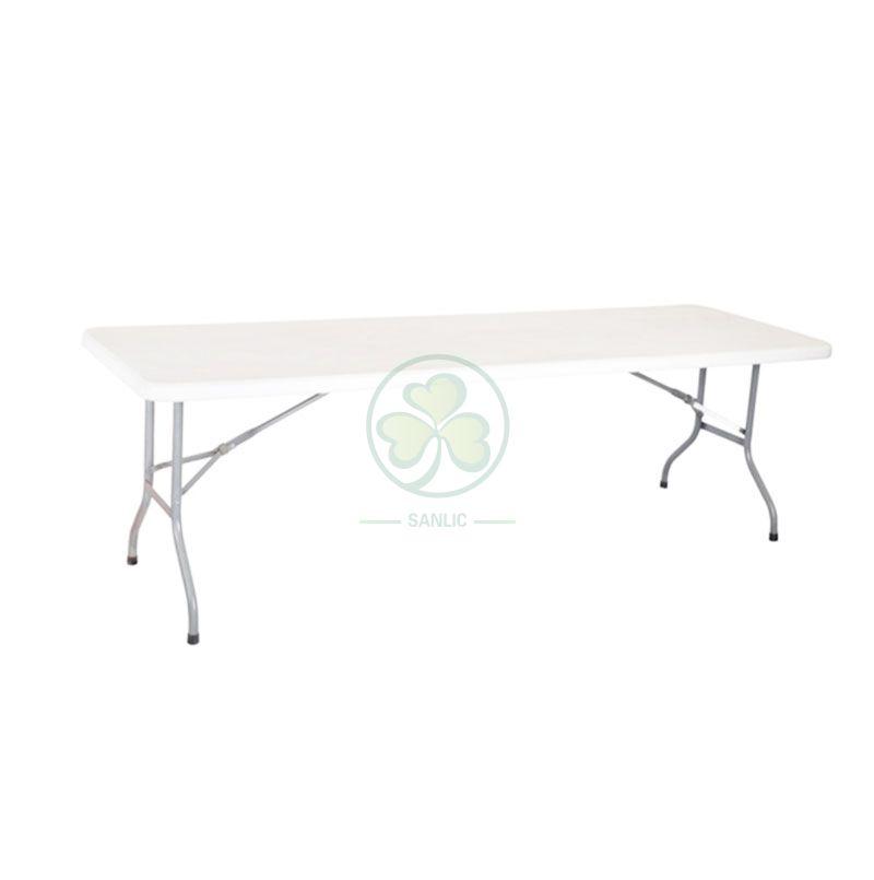 8FT Plastic Rectangular Folding Table