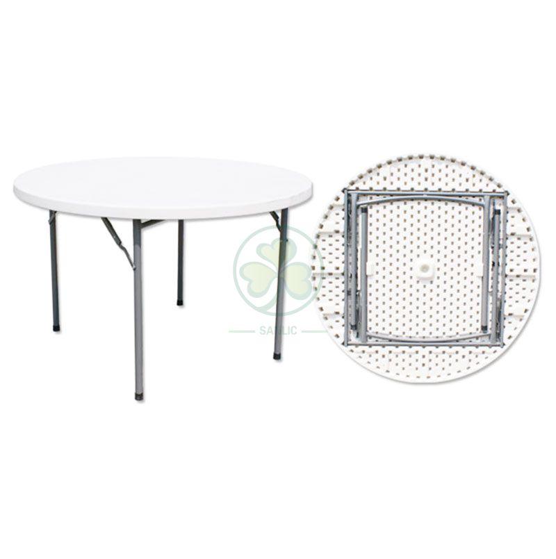 4FT Plastic Round Folding Table
