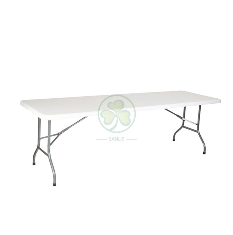 8FT Rectangular Fold-In-Half Table