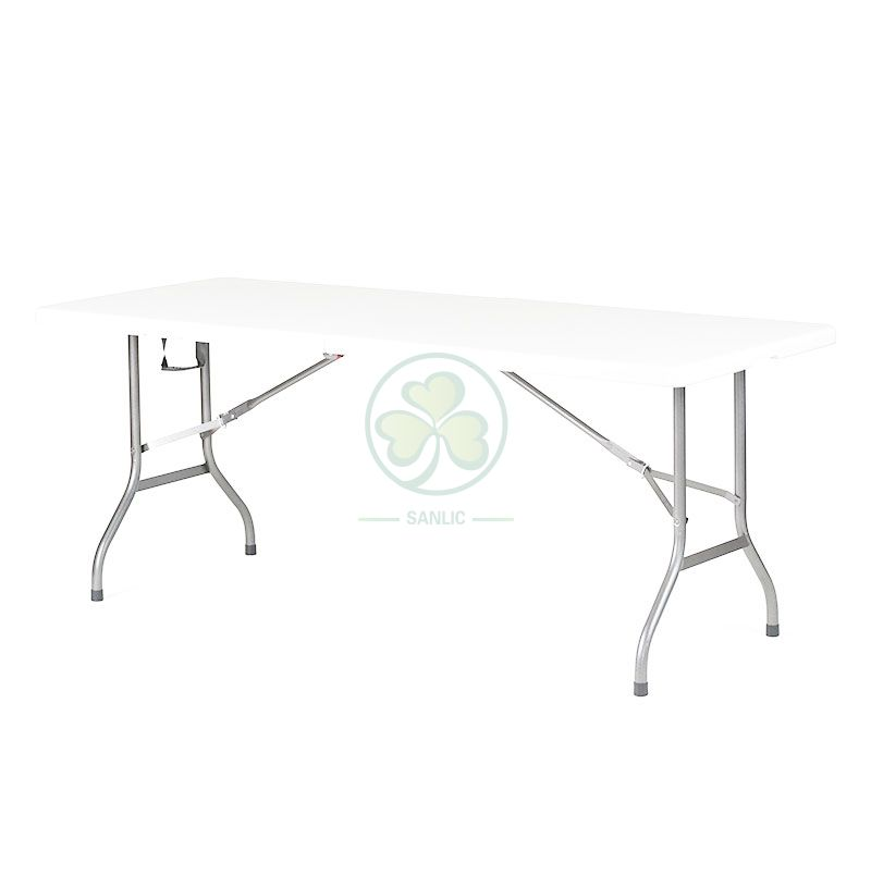 6FT Rectangular Fold-In-Half Table with Lock T4.5