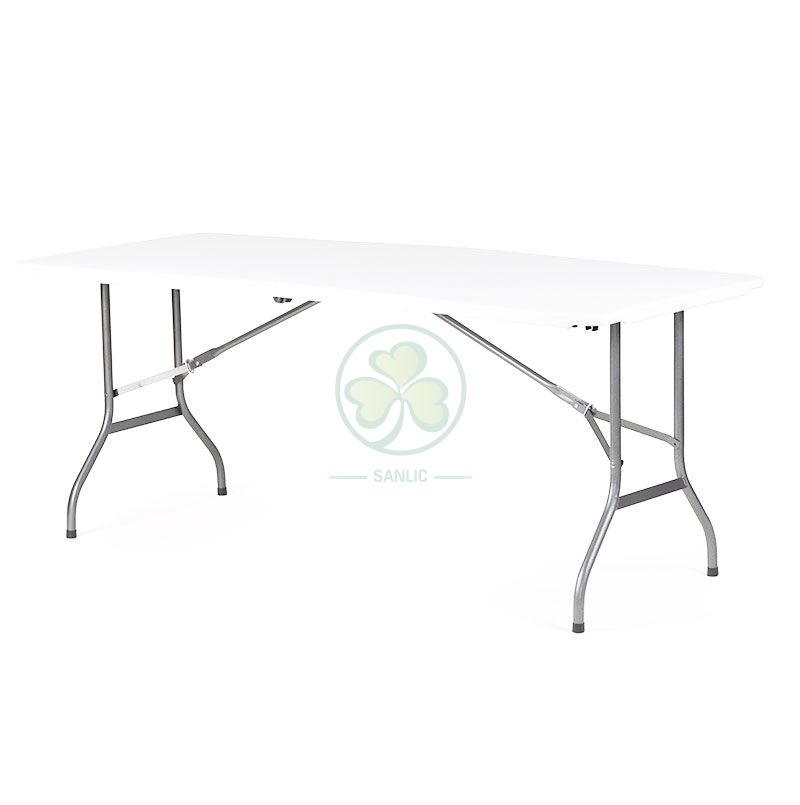 6FT Rectangular Fold-In-Half Table with Lock T3.5