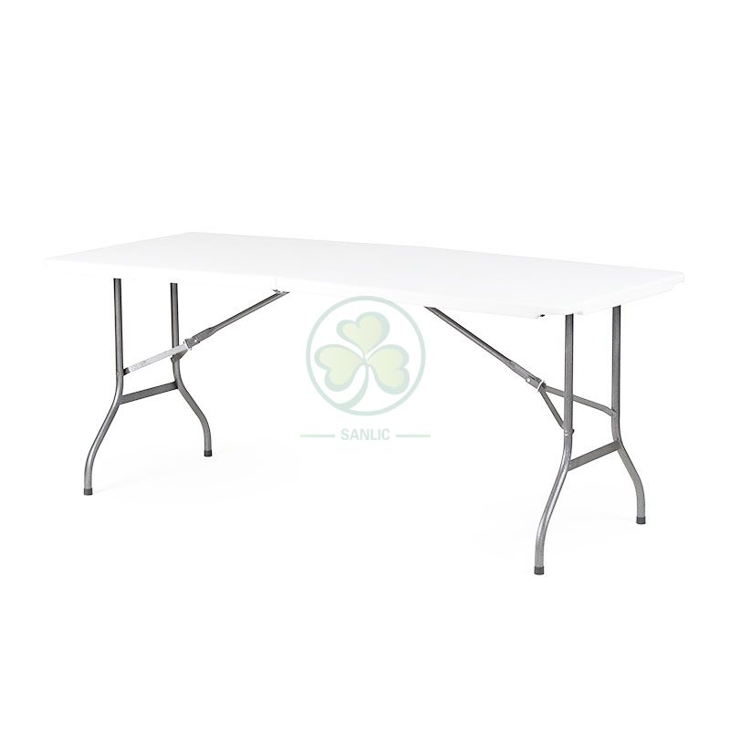 6FT Rectangular Fold-In-Half Table with Lock T4.0