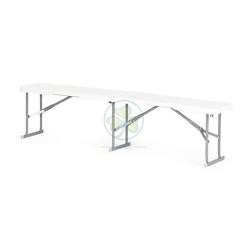 6FT Plastic Fold-In-Half Bench T4.0