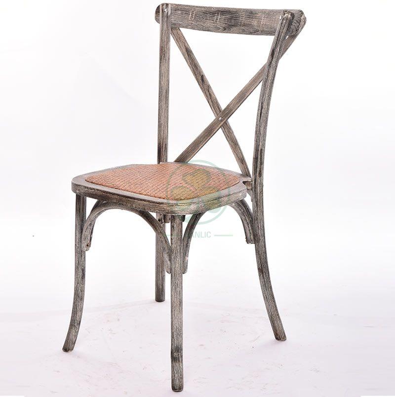 Wooden Cross Back Chair