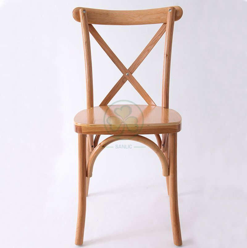 Wholesale Natural Color Wooden Cross Back Chair   SL-W1801RGXB
