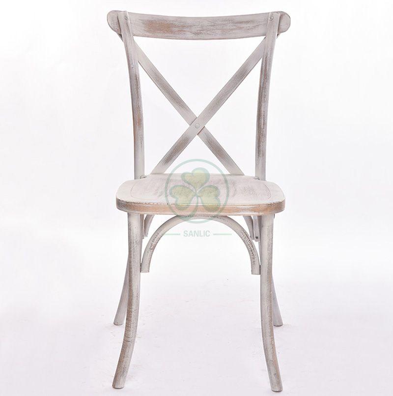 Wooden Banquet Limewash Crossback Chairs SL-W1807RGXB
