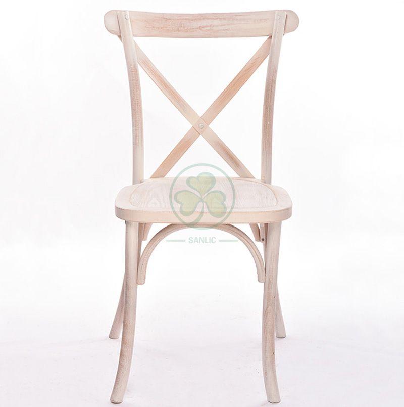 Solid Beech Wood Vineyard Crossback Chairs   SL-W1808RGXB