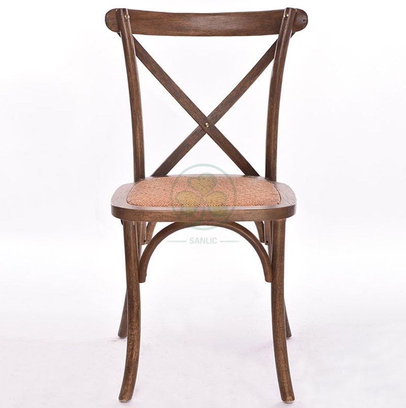 Rustic Solid Beech Wood Crossback Dining Chairs   SL-W1806RGXB