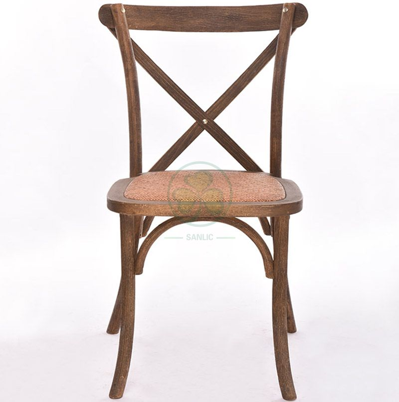 Hotel Banquet X Back Dining Chairs with Wood Grain Wiredrawing   SL-W1814RGXB