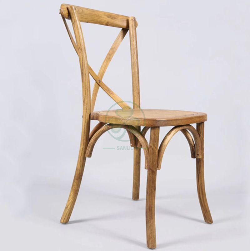 Vintage Elmwood Cross Back Chair   SL-W1813RGXB
