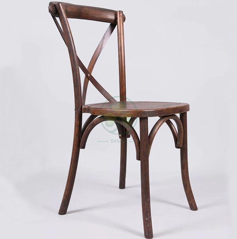 Wholesale Stackable Elmwood X Back Event Chair   SL-W1809RGXB