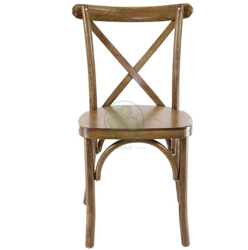 Wholesale Hot Sale Brown Crossback Dining Chairs for Events   SL-W1815RGXB