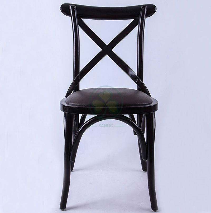 Factory Wholesale Black Wooden Crossback Chairs   SL-W1818RGXB