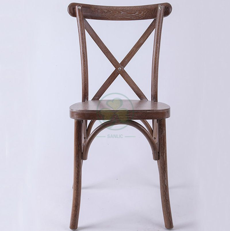 Morden Stacking Oak Crossback Dining Chairs   SL-W1821RGXB