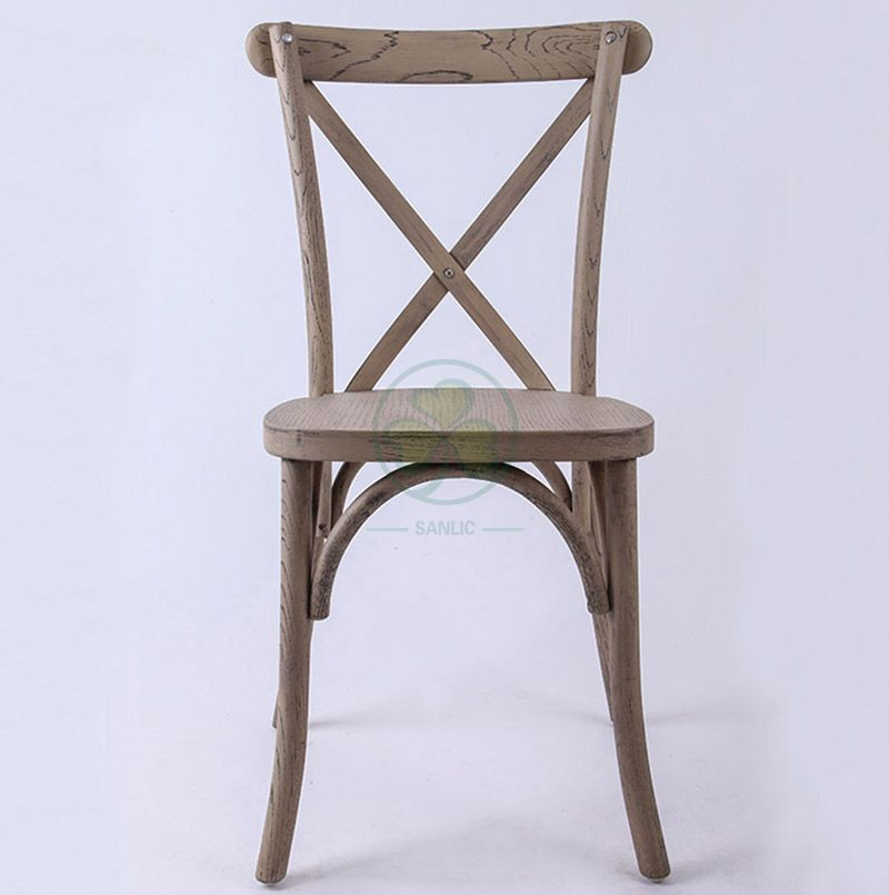 Bespoke Event Oak Wood Farmhouse Crossback Chair   SL-W1824RGXB