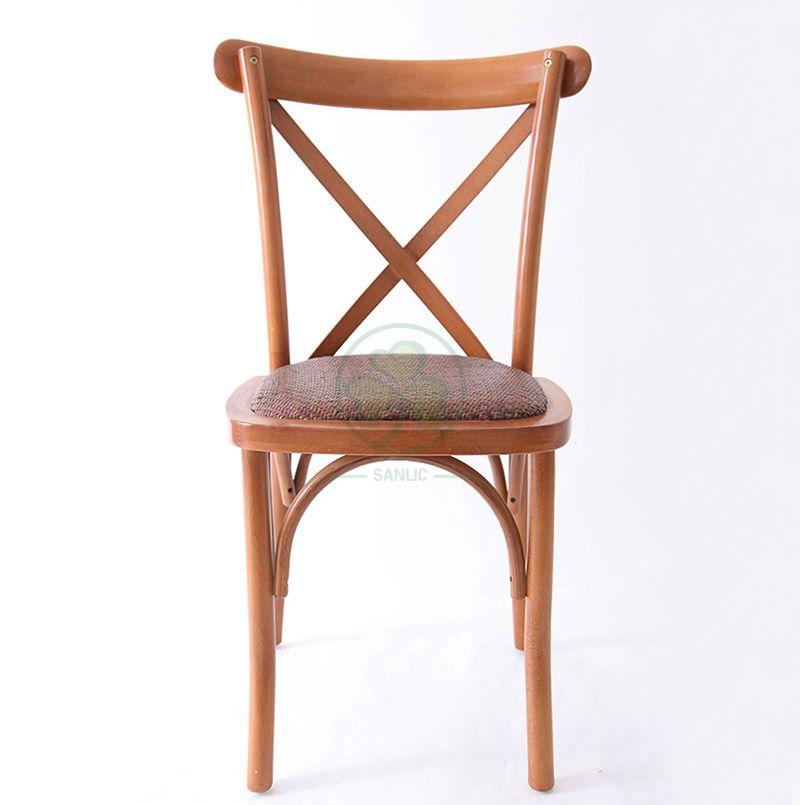 Cheap Wholesale Vineyard X Back Chairs with Rattan Seat  SL-W1826RGXB