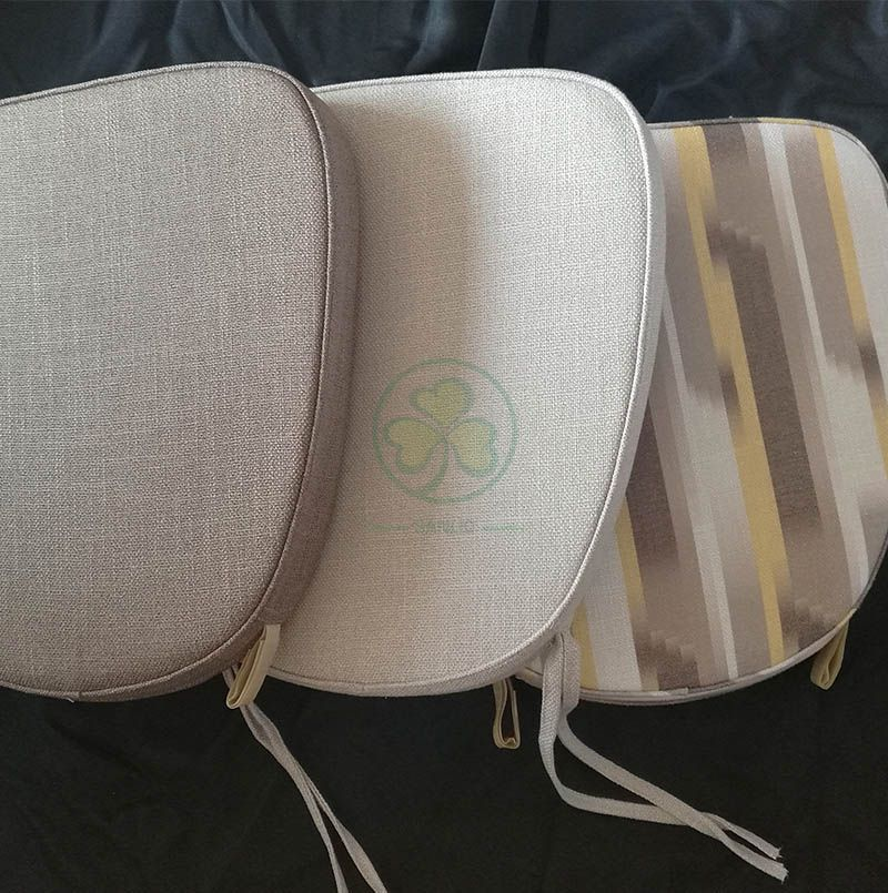 Customized Durable Burlap Seat Cushions with Ties or Velcros for Sale SL-F1906SBCT