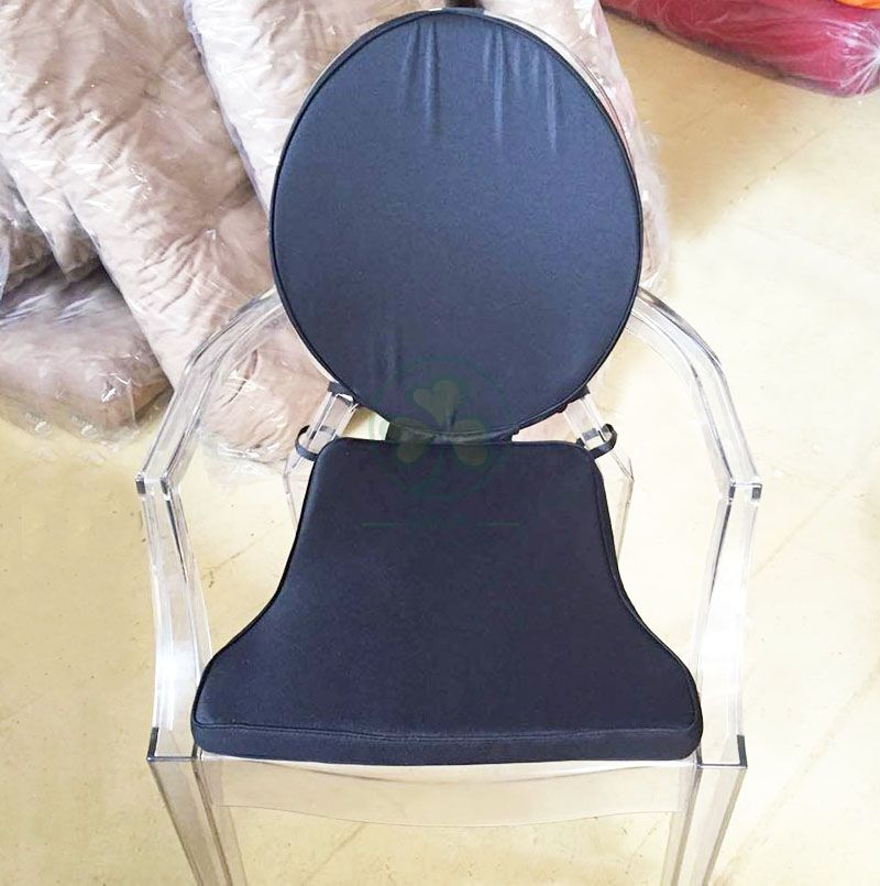 Customized Soft Seat Cushion and Back Cushion for Resin Ghost Chairs SL-F1908SUCC