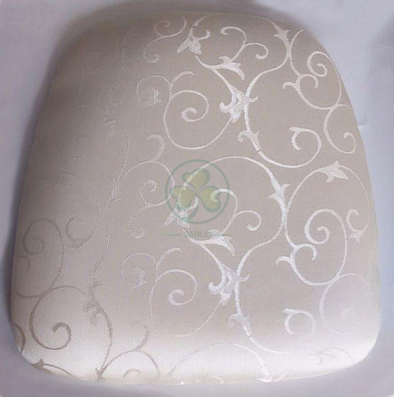 Customized Hard Jacquard Chiavari Chair Cushion with Velcros  SL-F1924HJCV