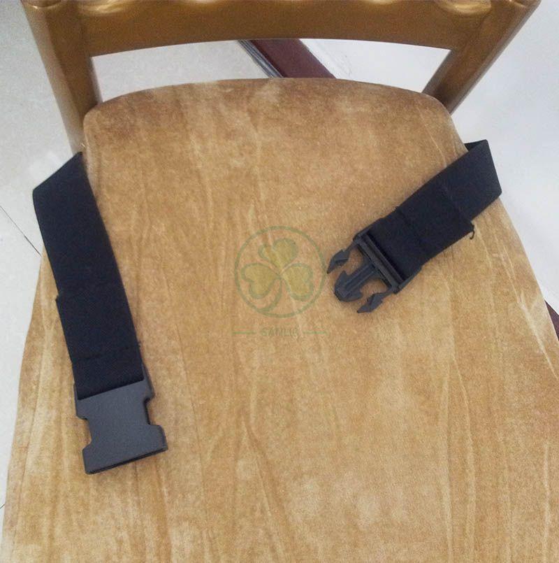 Bespoke Hard Pleuche Chair Cushion with Buckle SL-F1925HPCB