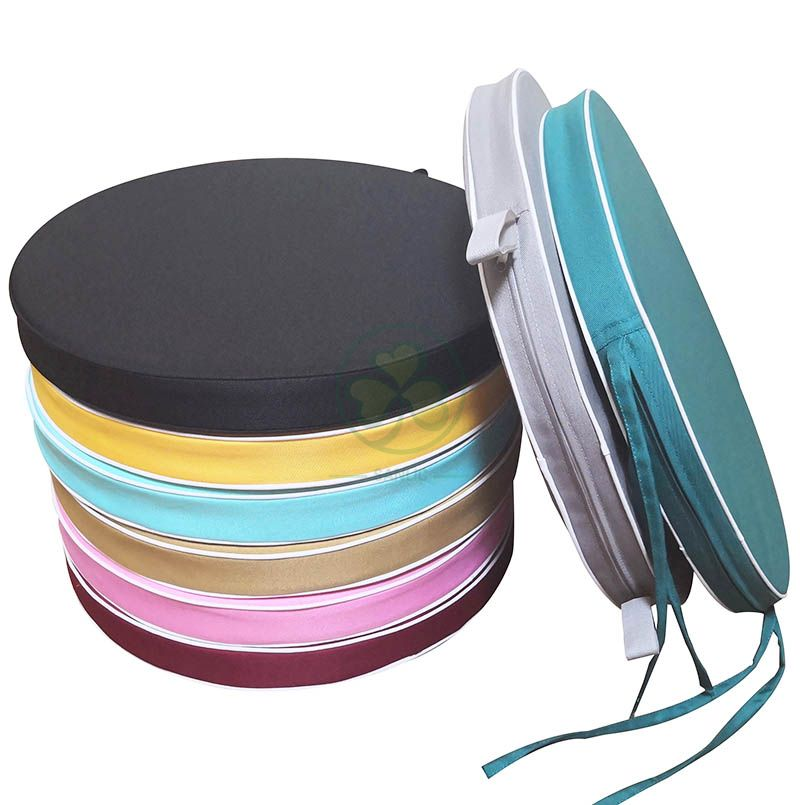 Polyester Round Soft Pad with Ties for Event Rentals  SL-F1905SUCT-R