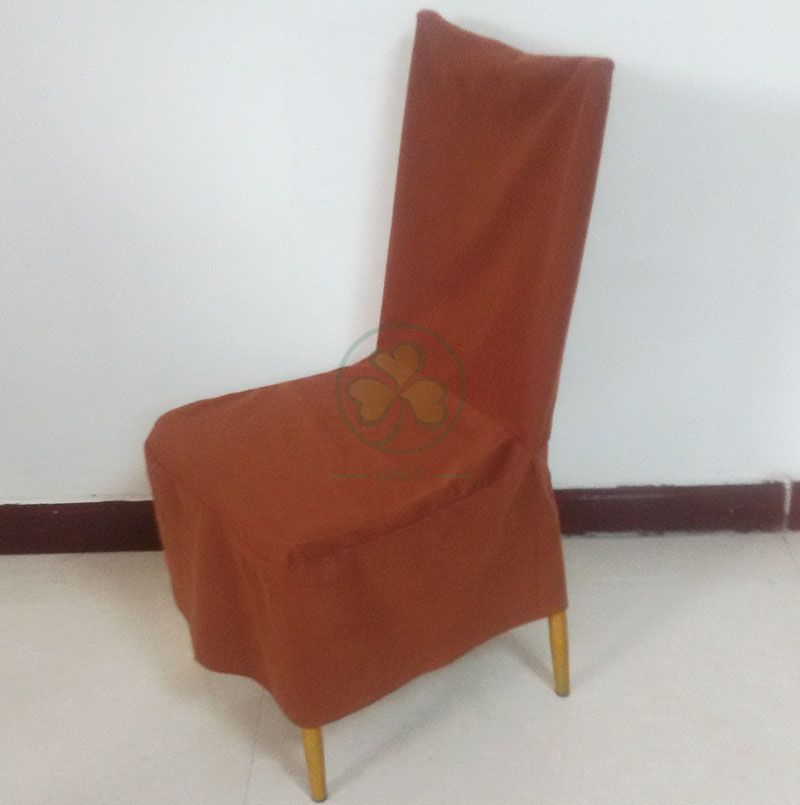 Wedding Party Rental Chair Dust Cover by Brushed Fabric SL-F1937DCBF