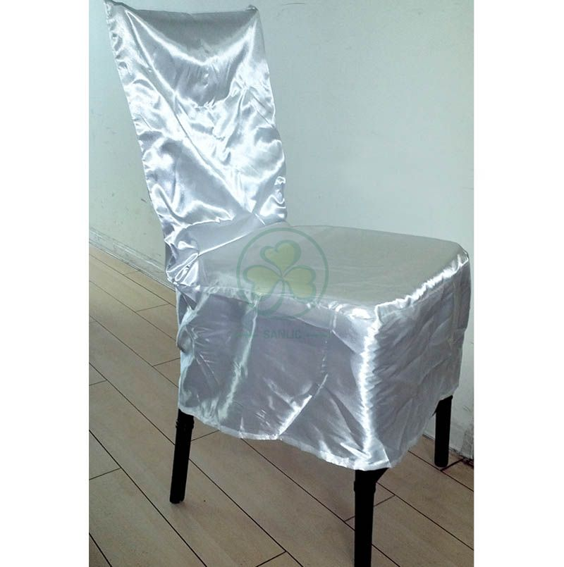 Event Hire Dining Chair Dust Cover by Satin SL-F1938CDCS