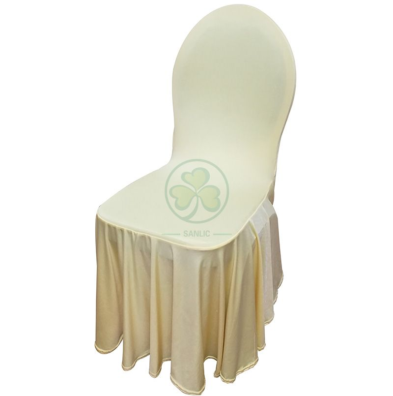 Wholesale Universal Spandex Strechy Ruffled Banquet Chair Cover SL-F1944SRCC