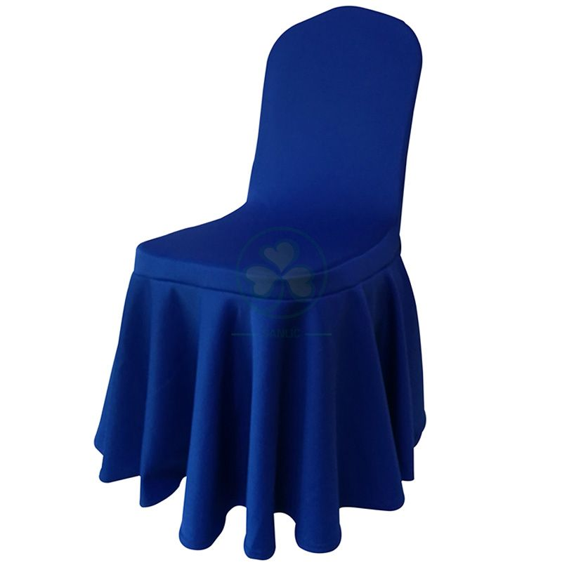 Wedding Pleated Skirt Spandex Chair Cover for Sale SL-F1945SSCC