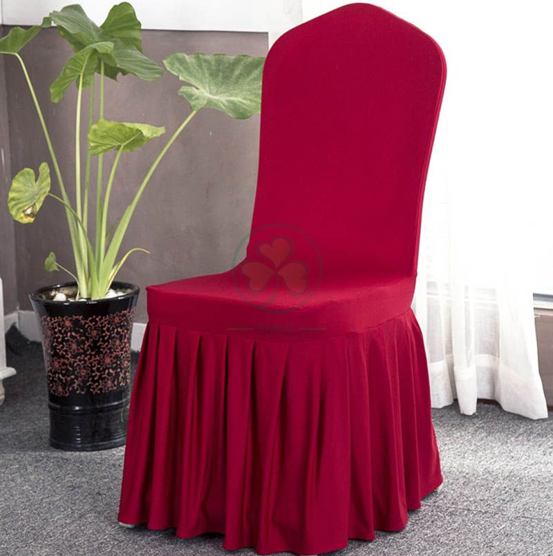 Popular Universal Wedding Skirting Decoration Banquet Chair Cover SL-F1946SUCC