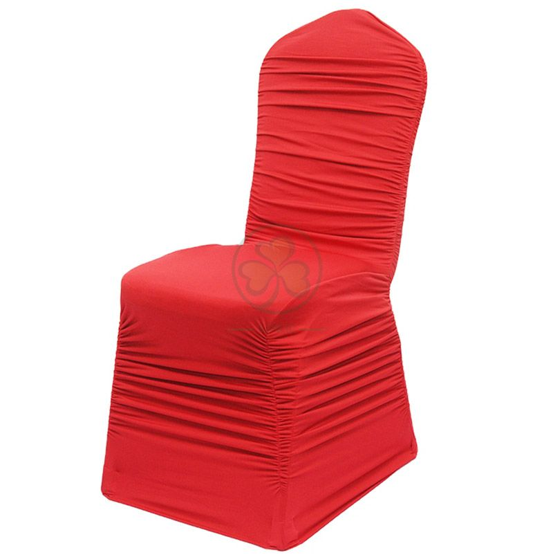 Hot Sale Ruffled Spandex Wedding Chair Covers  SL-F1949SRWC
