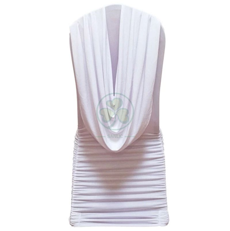 Elegant Swag Back Ruched Spandex Banquet Chair Cover SL-F1949SRSC
