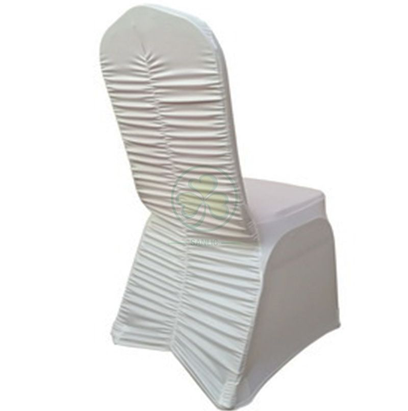 Hot Selling Hotel Ruched Spandex Banquet Chair Covers SL-F1952RSBC