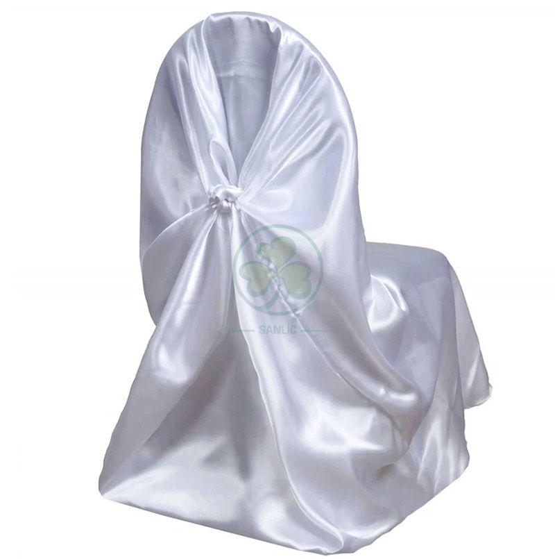 Wholesale Satin Self-Tie Universal Chair Cover White SL-F1956USBC