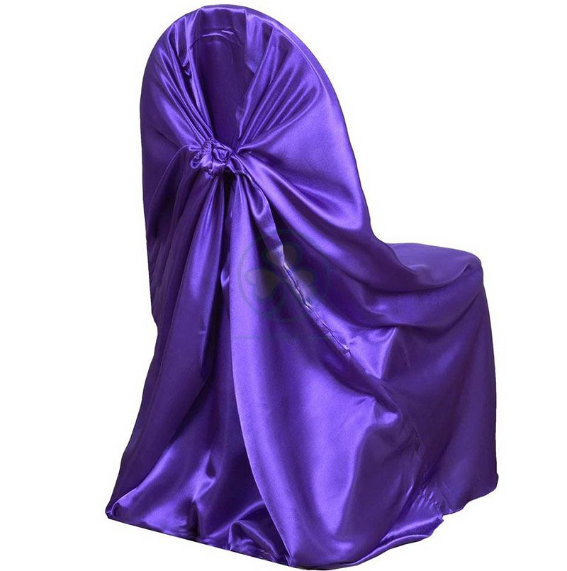 Taffeta Universal Self Tie Chair Covers Wholesale Purple SL-F1957USSC