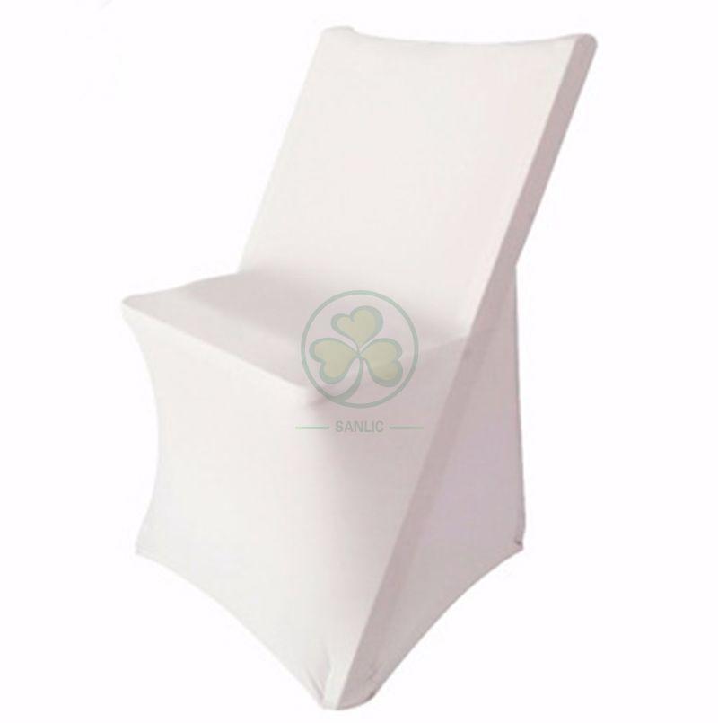 Wholesale White Spandex Stretch Folding Chair Cover SL-F1963SSFC