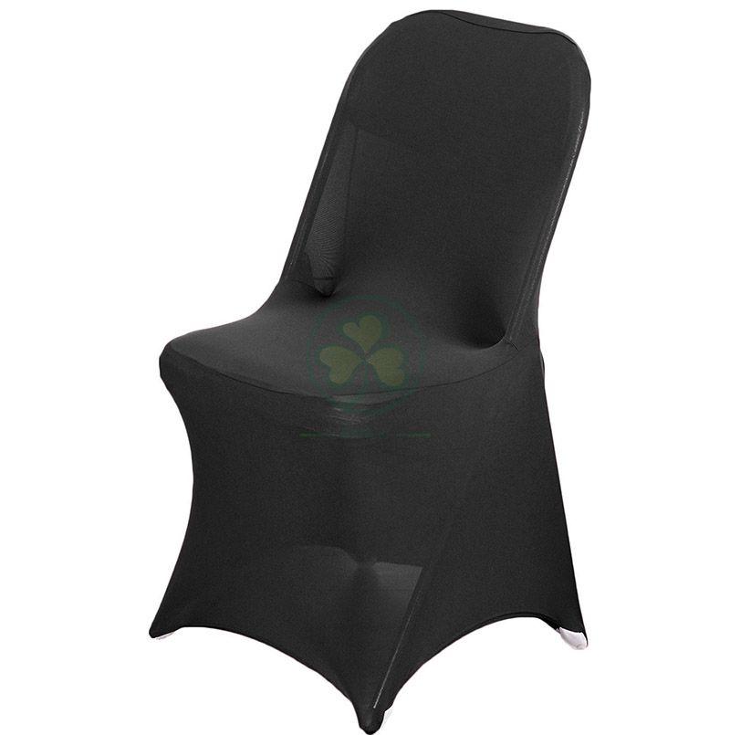 Shop Spandex Stretch Folding Chair Cover Fits Metal or Samsonite Black SL-F1964SSFC