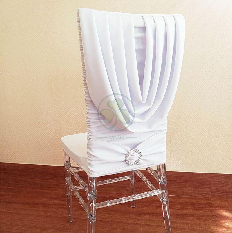 Bespoke Spandex Stretch Swag Back Wedding Chair Cover SL-F1969SSSC