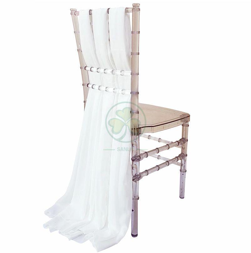Fancy Wedding Chiffon Chair Sash Cover for Chiavari Chair Decoration SL-F1973FCSC