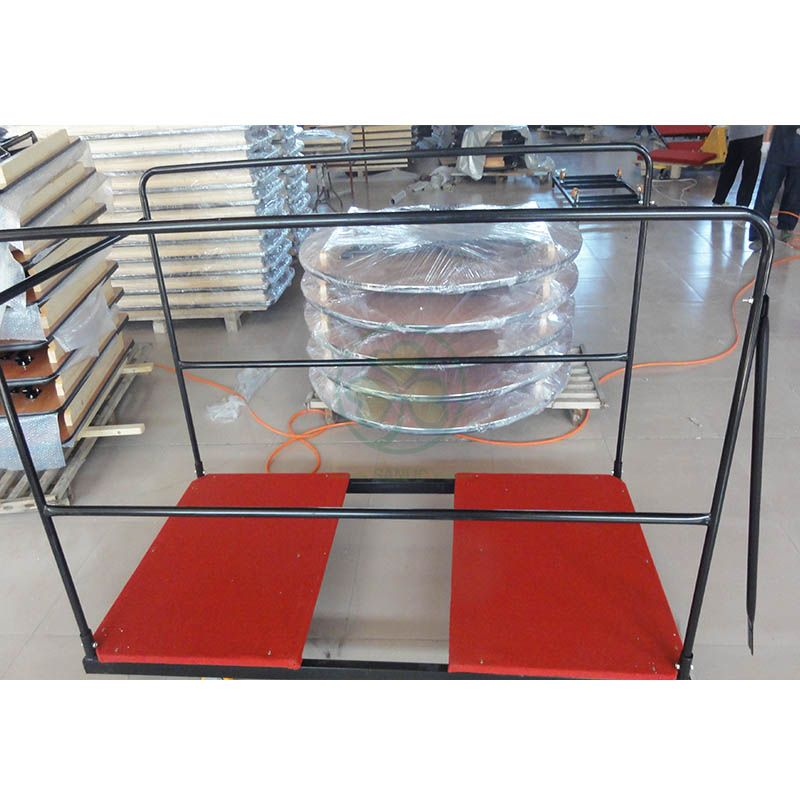 Wholesale Folding Table Trolley Round Table Storage Carts SL-M5703RTSC
