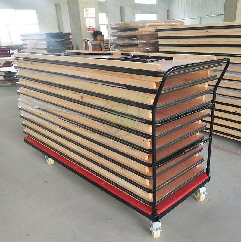High Quality Table Dolly Folding Rectangular Table Trolley SL-M5704FRTT