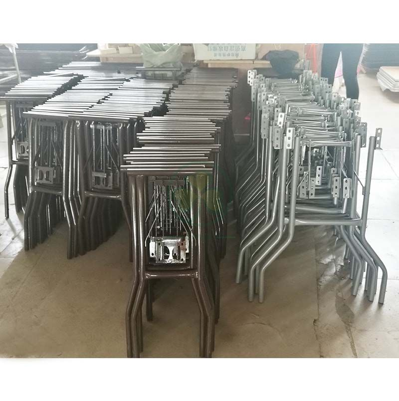 Popular Metal Table Legs for Melamine Laminate Folding Table Brown SL-M5707MMLL