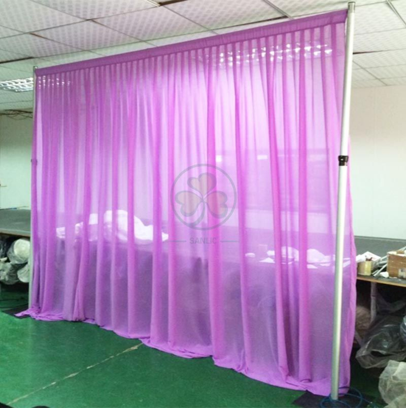 Wholesale Transparent Chiffon Backdrop Drapes and Fabrics SL-F1983TCBD