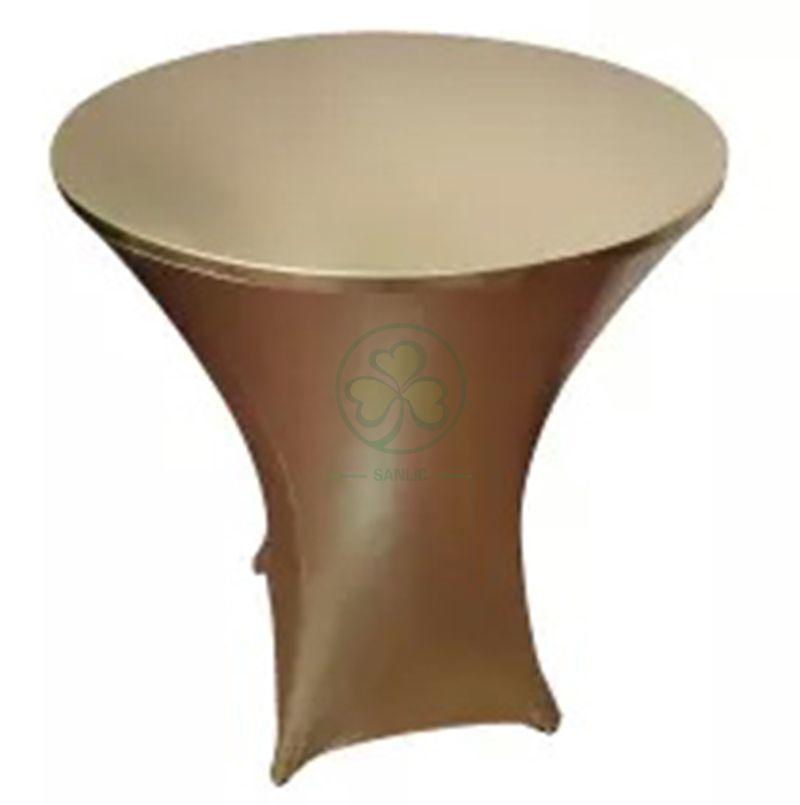 Metallic Gold Stretch Spandex High Bar Table Covers SL-F1998SBTC
